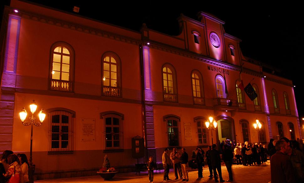Comune di Nocera InferiorePiazza Armando Diaz vista di notte