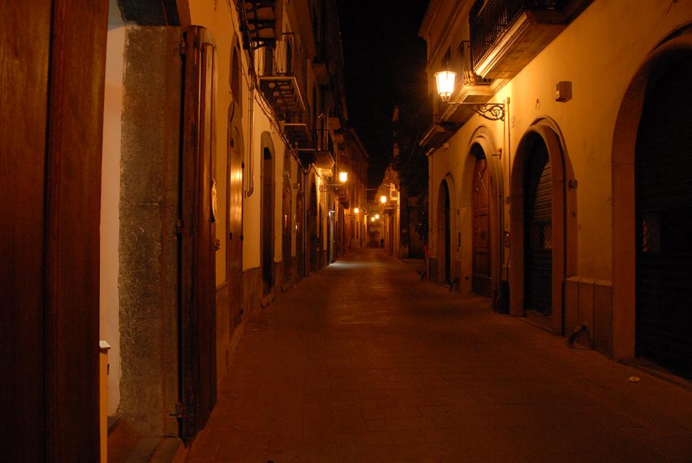 Nocera Inferiore - Via OrigliaVista di notte