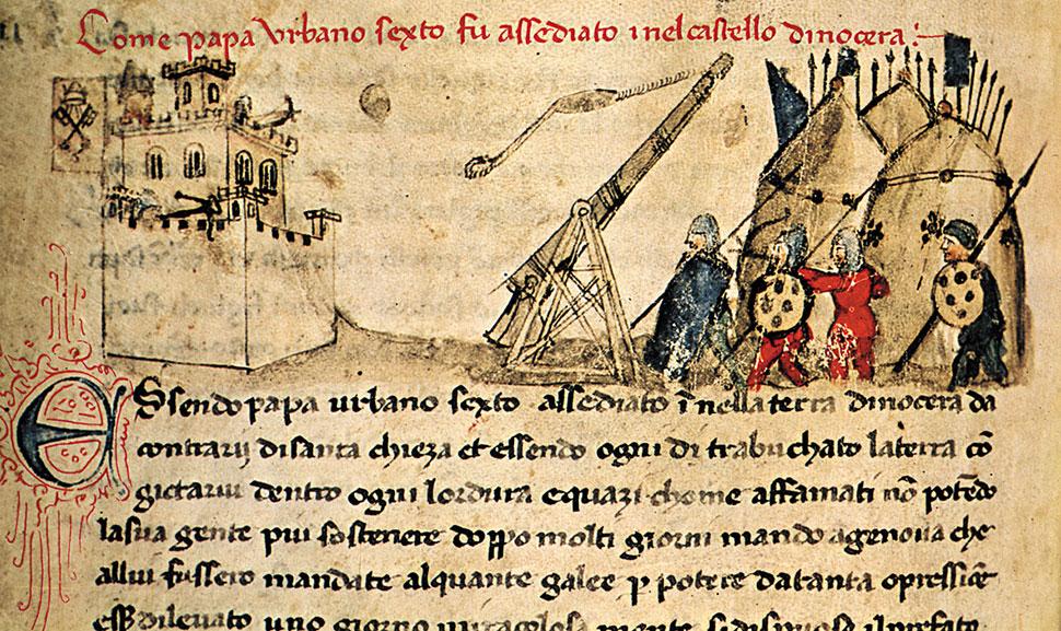 Nocera Inferiore - Attacco al castelloAntica rappresentazione dell\'attacco al castello di Nocera Inferiore